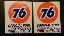 """2 pcs VTG UNION 76 OFFICIAL FUEL NASCAR RACING DECALS STICKERS SIZE 3.5"""" X 4.5"""""""