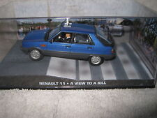 JAMES BOND 007 MOVIE CARS 1/43  RENAULT 11 TAXI A VIEW TO A KILL