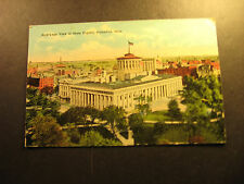 Bird's Eye View of State Capitol, Columbus, Ohio, used postcard, about 1926