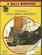 GIALLO MONDADORI 1604-PATRICIA MOYES-CHI E' SIMON WARWICK?-28/10/1979( MAG GG)