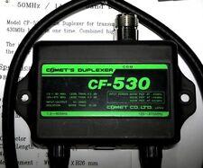 COMET CF-530 1.3-90 MHZ/125-470MHZ Duplexer HF-6 meter/2 meters -70cm w/cable FS