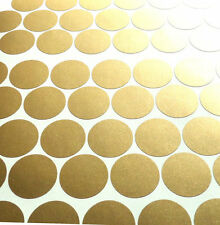 100 1'' gold polka dot stickers round  gold wall dots home decor vinyl nursery