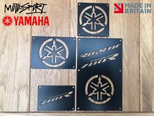 Yamaha Raptor 700 Plates Fender Tags Badges Warning. 2006 - 2012 Black Stainless