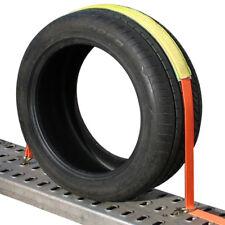 4x Auto Transport 50mm Spanngurt Zurrgurt Reifengurt PKW Anhänger Radsicherung 4