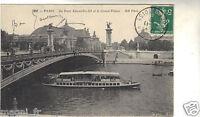 75 - cpa - PARIS - Le pont Alexandre III et le Grand Palais