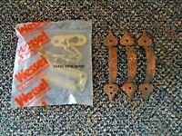 "Vtg.Mixed Lot Of Hardware Items,1,"" NOS "" NIP "" Chain Door Guard,3 Drawer Pulls"