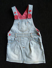 Baby clothes GIRL 12-18m M&S pale blue/pink cute denim dress 2nd item post-free!