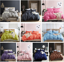 Modern Soft Bedding Set Duvet Quilt Cover Pillowcase Twin/Queen/King Bedclothes