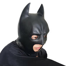 Men's Silicone Face Mask Batman Cosplay Movie Adult Party Masquerade Rubber