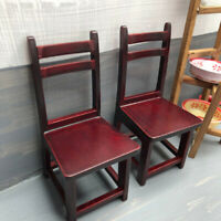1:12 Dollhouse Miniature Furniture red brown Wooden Chair For Decor To%o