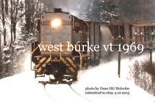 "Canadian Pacific Railway 8466 West Burke Vt. 1969 4x6"" photo"