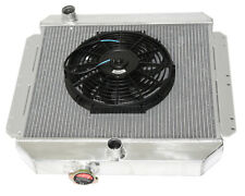 """Fits 49-52 Chevy Styleline V8 MT Aluminum Racing 3 Row Radiator12"""" Fans"""
