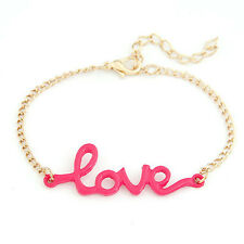 Infinity Charm chain pink black Love Anklet Bracelet bangle gold Chain