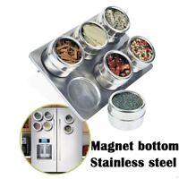 Der Küche Aroma-Behälter Magnetische Dosen Rostfreier Stahl Gewürzgläser