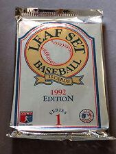 1992 Leaf Set Series 1 Baseball LOT OF 180 Unopened Packs 2700 Cards Total
