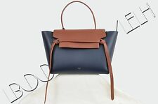 CELINE PARIS 2900$ Authentic New Small Midnight Blue Belt Bag In Smooth Calfskin