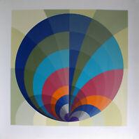 ANTON STANKOWSKI - Abstrakte Komposition (1973). Handsignierter Farbsiebdruck.