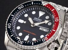 SEIKO MENS AUTOMATIC STEEL 200M DIVERS WATCH SKX009K2 Warranty,Box