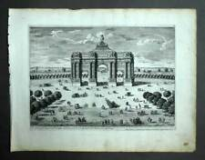 ARC DE TRIOMPHE DU CARROUSSEL A PARIS gravure estampe ancienne PERELLE 1675