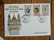 PITCAIRN ISLANDS ROYAL WEDDING PRINCESS DIANA 1981 SET FDC WESTMINSTER ABBEY