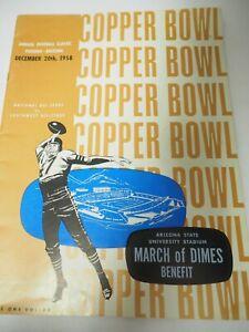 1958 Copperbowl Football Programme Cuivre Bol National Vs Southwest Tout Star