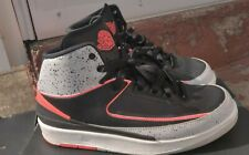AIR JORDAN 2 RETRO BG  SZ SIZE 7Y BLACK INFRARED 23 WHITE CEMENT