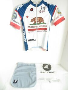 Pactimo California Republic State Champion 2016 Cycling Jersey Small W/bag
