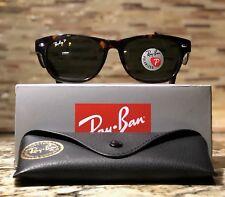 Ray-Ban Wayfarer Polarized Sunglasses RB2132 902/58 52mm Tortoise/Green Lens!!