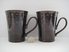 DENBY POTTERY ENGLAND GREYSTONE TEA COFFEE STRAIGHT SIDED BEAKER DRINKING MUG