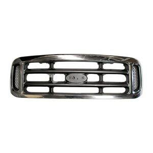*NEW* TOP RADIATOR GRILLE (CHROME-GREY) for FORD F250 F350 F-250 F-350 2001-2006