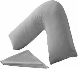 V SHAPED SATIN T400 PILLOW CASE FOR MATERNITY PREGNANCY ORTHOPAEDIC SUPPORT