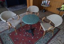 Comodissimo set per esterno 3 poltrone sedie vero rattan + tavolino bistrot