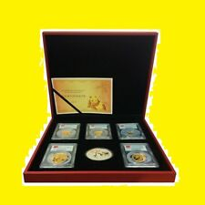 2015 CHINA ~ 3 OZ GOLD&SILVER PANDA PRESTIGE SET PCGS MS 70 FIRST STRIKE 750 MNT