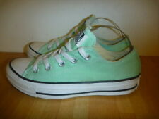 CONVERSE ALL STARS CHUCKS SIZE UK 3 GREEN PLIMSOLLS TRAINERS EXCELLENT CONDITION