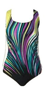 Womens Poolside Outfit, Control Swimsuit, Multicoloured, By Charmleaks
