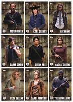 2016 Topps Walking Dead Season 5 - 135 Card Master Set 100 Base + 3 Chase Sets!