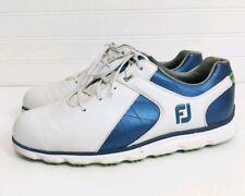 FootJoy Fj Pro Sl Golf Shoes 53584 White/Blue Size 9 W Wide Spikeless Walking
