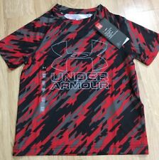Under Armour Shirt Youth XS Loose Heat Gear Red And Black NEW!!