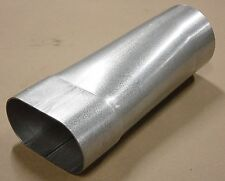 """3.0"""" OVAL (id)  TO 3.0"""" ROUND (od) ALUMINIZED STEEL TRANSITION ADAPTER"""