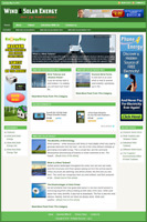 WIND & SOLAR ENERGY - Professionally Designed Affiliate Website - Free install