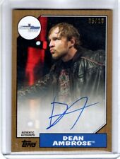 2017 Topps WWE Heritage Auto DEAN AMBROSE Gold Parallel 05/10 AUTOGRAPH Rare SSP