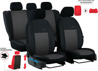 Universal Car Seat Covers Eco Leather & Fabric fits Vauxhall Corsa C 2000-2006