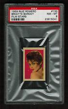 PSA 8  BRIGITTE BARDOT  1959 Ruiz Romero Film Stars Card (Highest Ever Graded)