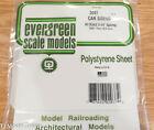 "Evergreen Styrene 2037 Car Siding 6 x 12"" Sheet Scale 3-1/4"" Spacing"