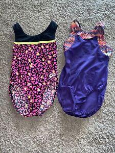 Girls Gymnastics Or Dance Leotards Size CM lot of 2