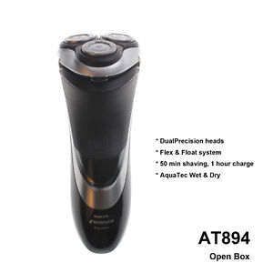 Philips Norelco electric Shaver Wet & Dry AT895 DualPrecision heads HQ8 w/o box