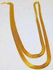 22 CARAT YELLOW GOLD BOX CHAIN UNISEX FINE JEWELRY 3 MM WIDE JEWELRY NICE DESIGN