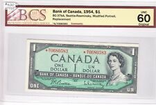 1954 Bank of Canada $1.00 Replacement Note - BCS Unc60 Original *N/Y 0680583