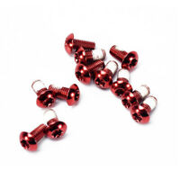12pcs Mountain Bike Bicycle Brake Rotor Bolts Screws Anti-Skid Disc Screws Red