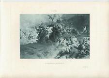ANTIQUE ARABIAN HORSES EQUESTRIAN FANTASIA MOROCCO WAR DESERT SAND STORM PRINT